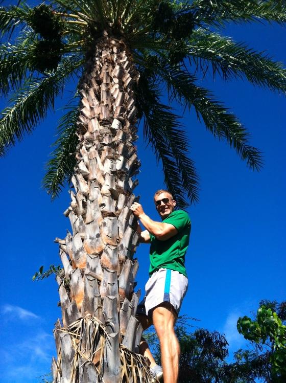 Pete Climbing Tree