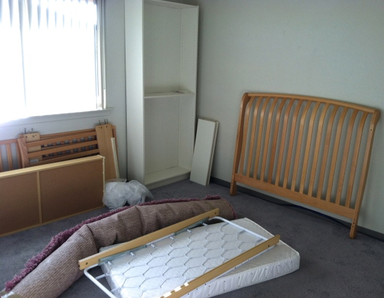 Baby Girl Nursery Before